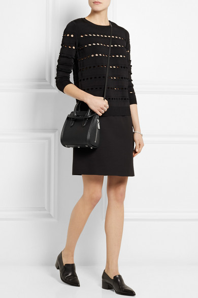90c3cac336047 Alexander McQueen. The Heroine mini textured-leather shoulder bag
