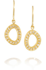 Yossi Harari Melissa 24-karat gold diamond earrings