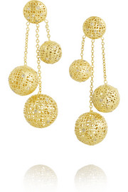 Yossi Harari 18-karat gold diamond earrings