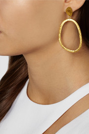 Yossi Harari Melissa hammered 24-karat gold earrings