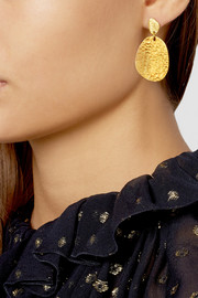 Yossi Harari Melissa 24-karat gold earrings