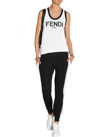 Fendi Roma contrast-trimmed cotton track pants