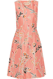 Marni Floral-print cotton and silk-blend dress