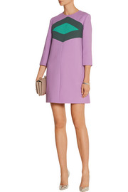 Marni Paneled wool and cotton-blend crepe mini dress