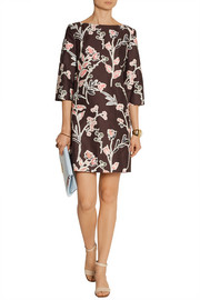 Marni Printed cotton and silk-blend mini dress