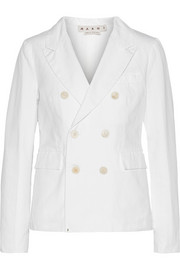 Marni Cotton and linen-blend twill blazer