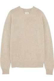 Split-neck cashmere sweater