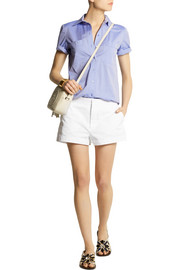 Cotton and linen-blend shorts