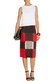 Marni Printed crepe pencil skirt