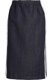 Marni Striped denim pencil skirt