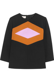 Marni Wool and cotton-blend crepe top