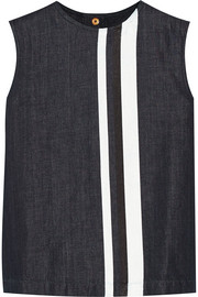 Marni Striped wool and linen-blend top