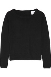 Manhattan open-back cotton-blend sweater