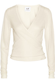 Ballet silk and cashmere-blend wrap cardigan