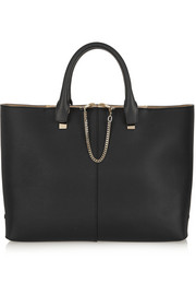 Baylee medium textured-leather tote