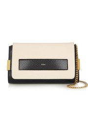 Elle small ayers-trimmed leather shoulder bag