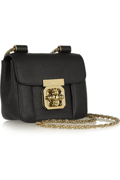 see by chloe wallets - Chlo�� | Elsie mini textured-leather shoulder bag | NET-A-PORTER.COM
