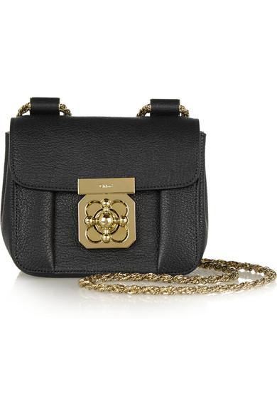 Chlo¨¦   Elsie mini textured-leather shoulder bag   NET-A-PORTER.COM