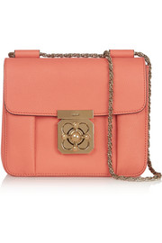 Elsie small textured-leather shoulder bag