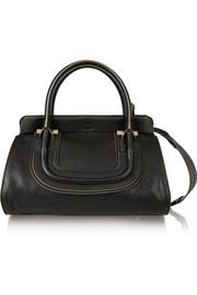 Everston small textured-leather shoulder bag