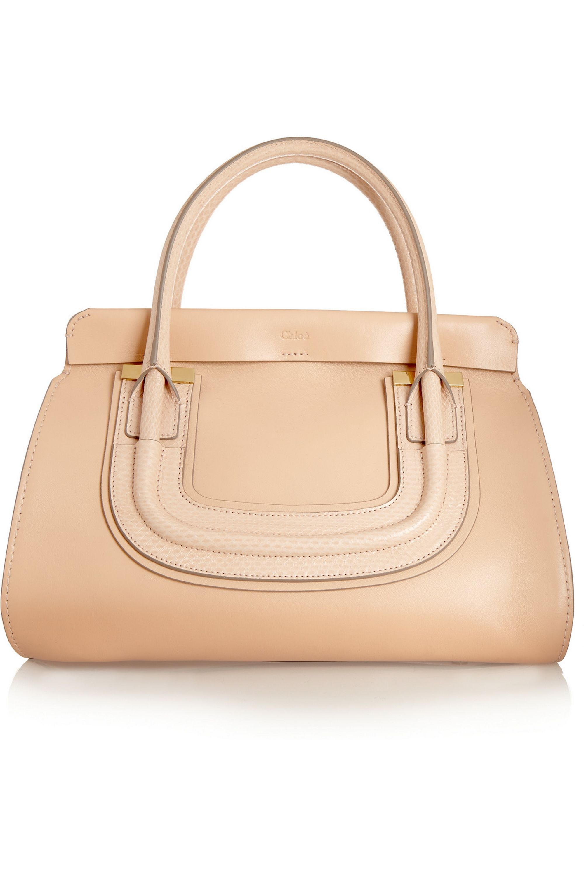 Chloé Everston small ayers-trimmed textured-leather shoulder bag