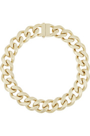 Gourmette gold-tone chain necklace