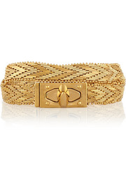 Shark Lock gold-tone wrap bracelet