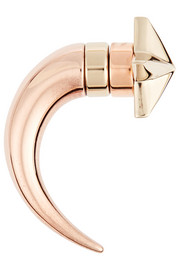 Givenchy Shark earring in rose gold-tone and pale gold-tone brass