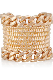 Armadillo rose gold-plated cuff