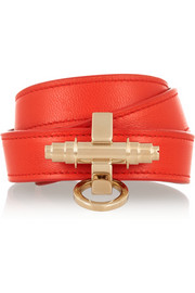 Obsedia bracelet in tomato-red leather