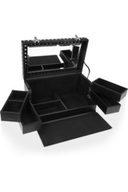 Eddie Borgo Leather and silver-plated jewelry box