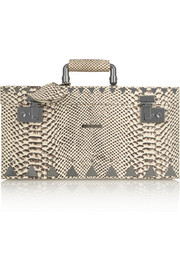Eddie Borgo Snake-effect leather and gunmetal-plated jewelry box