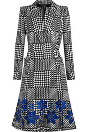 Prince of Wales check jacquard coat