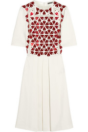 Alexander McQueen Embellished crepe dress