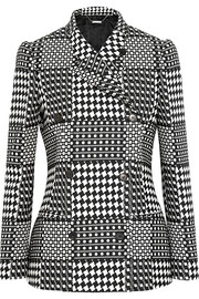 Prince of Wales check jacquard double-breasted blazer