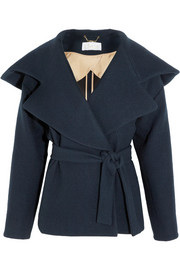 Chloé Hooded brushed-wool coat