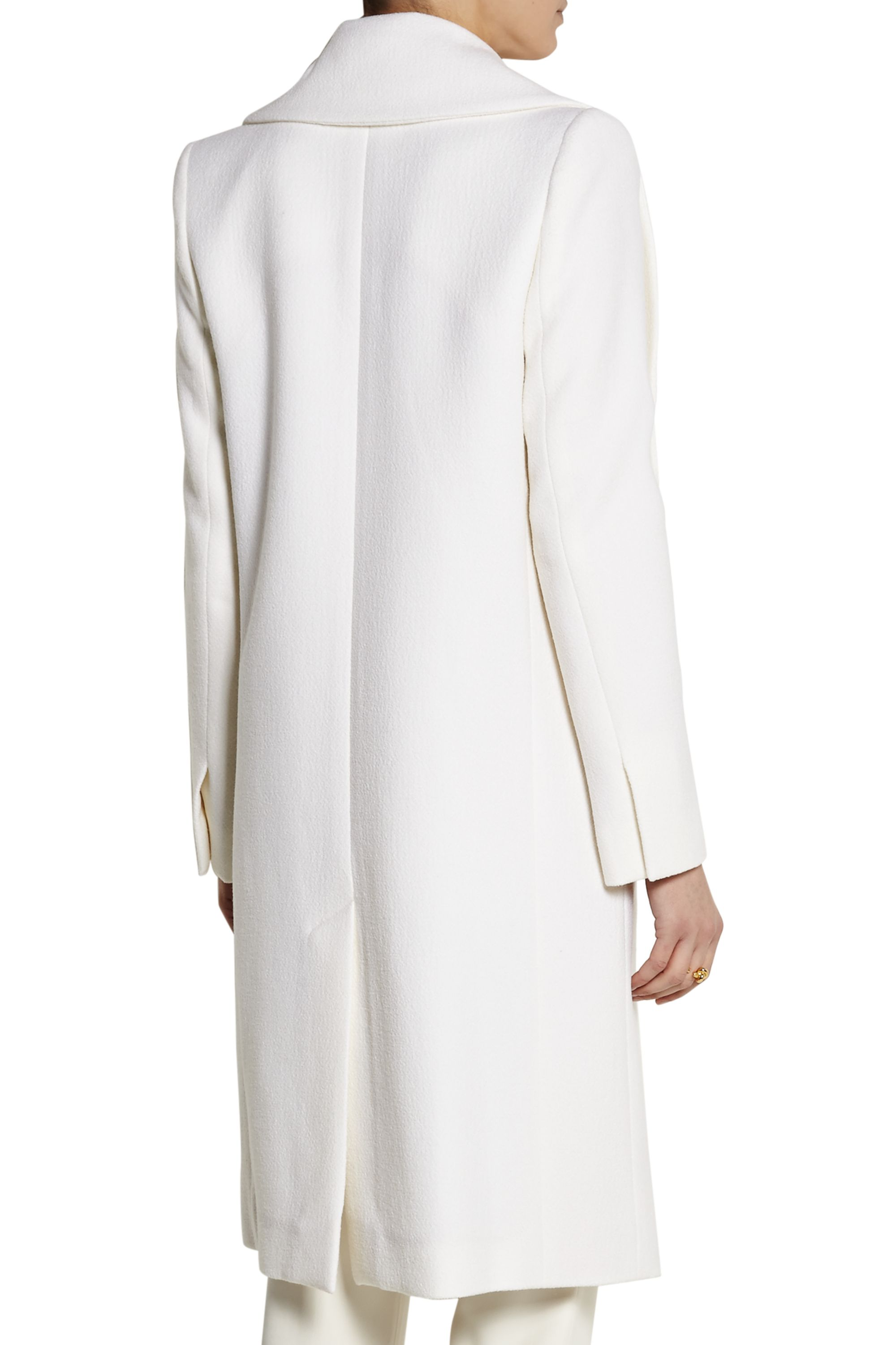 Chloé Double-breasted wool-blend crepe coat