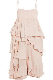 Ruffled cotton-gauze dress