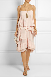 Chloé Ruffled cotton-gauze dress