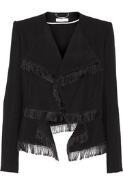 Fringed jacquard jacket