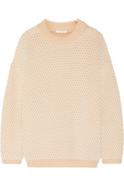 Chunky-knit cotton-blend sweater