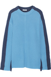 Chloé Oversized two-tone cashmere sweater