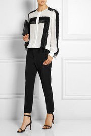 Cropped cady straight-leg pants