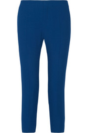 Cropped cady slim-fit pants