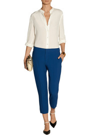 Chloé Cropped cady slim-fit pants