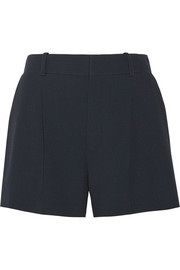 Iconic pleated crepe shorts