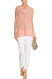 Chloé Draped silk-georgette top