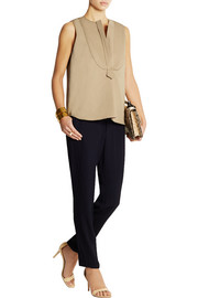 Atlantique Ascoli Smoking slub cotton and linen-blend top