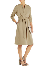 Atlantique Ascoli Smoking slub cotton and linen-blend dress
