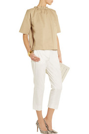 Atlantique Ascoli Cover slub cotton and linen-blend top